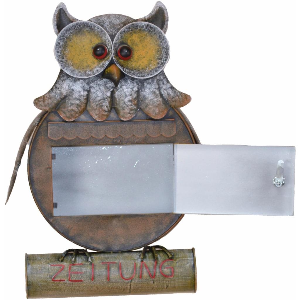 HOFMANN LIVING AND MORE Briefkasten »Eule«, aus Metall, für den geschützten Außenbereich