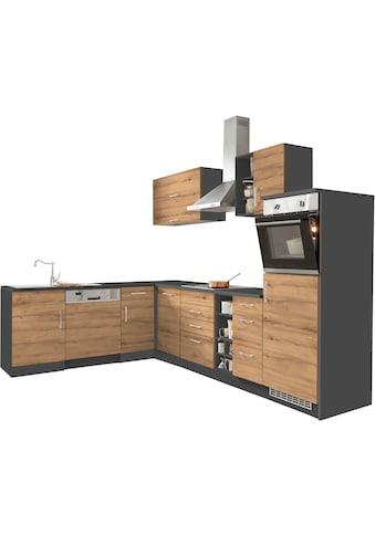 HELD MÖBEL Winkelküche »Colmar«, mit E-Geräten, Stellbreite 210/300 cm kaufen