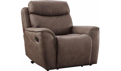 Home affaire Sessel »Pius«, mit Relaxfunktion und Nieten an den Armlehnen, Federkern kaufen