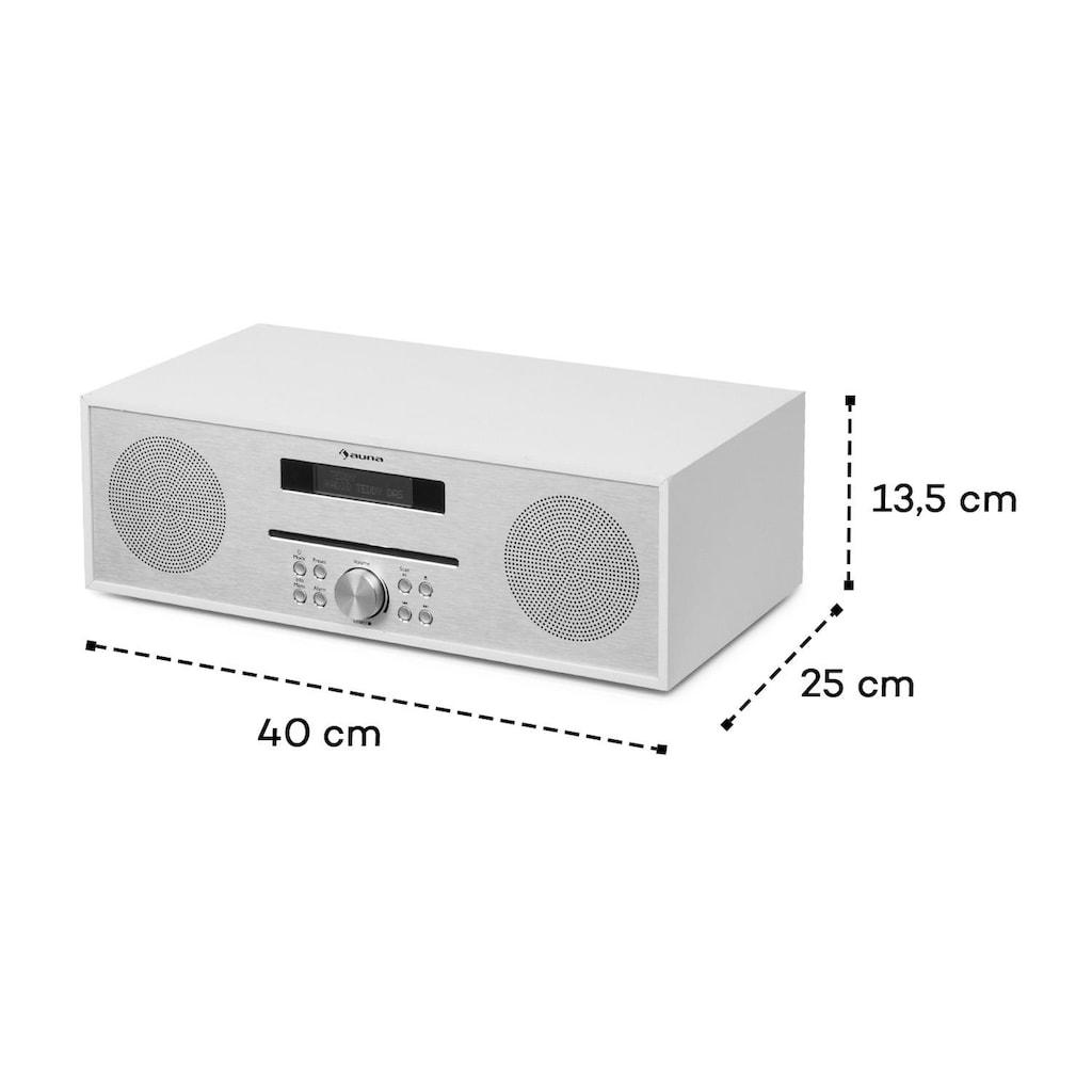 Auna CD-FM 2x20W max. Slot-In CD-Player UKW BT Alu