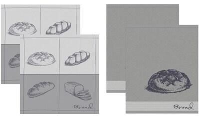 DDDDD Geschirrtuch »Bread«, (Set, 4 tlg., Combi-Set: bestehend aus 2x Küchentuch + 2x... kaufen