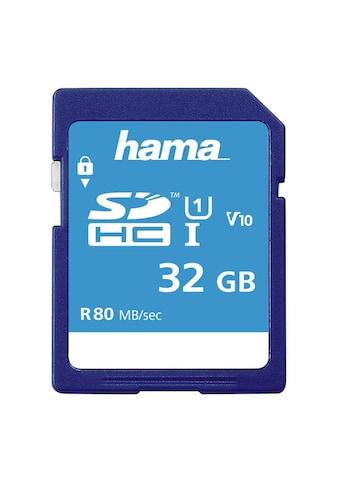 Hama SDXC Speicherkarte 32 GB, Class 10 UHS-I 80MB/S kaufen