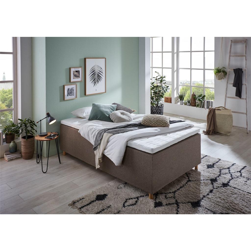 Home affaire Boxbett »Thorsby«, Boxbett ohne Kopfteil, frei im Raum stellbar, gut geeignet für Dachschrägen