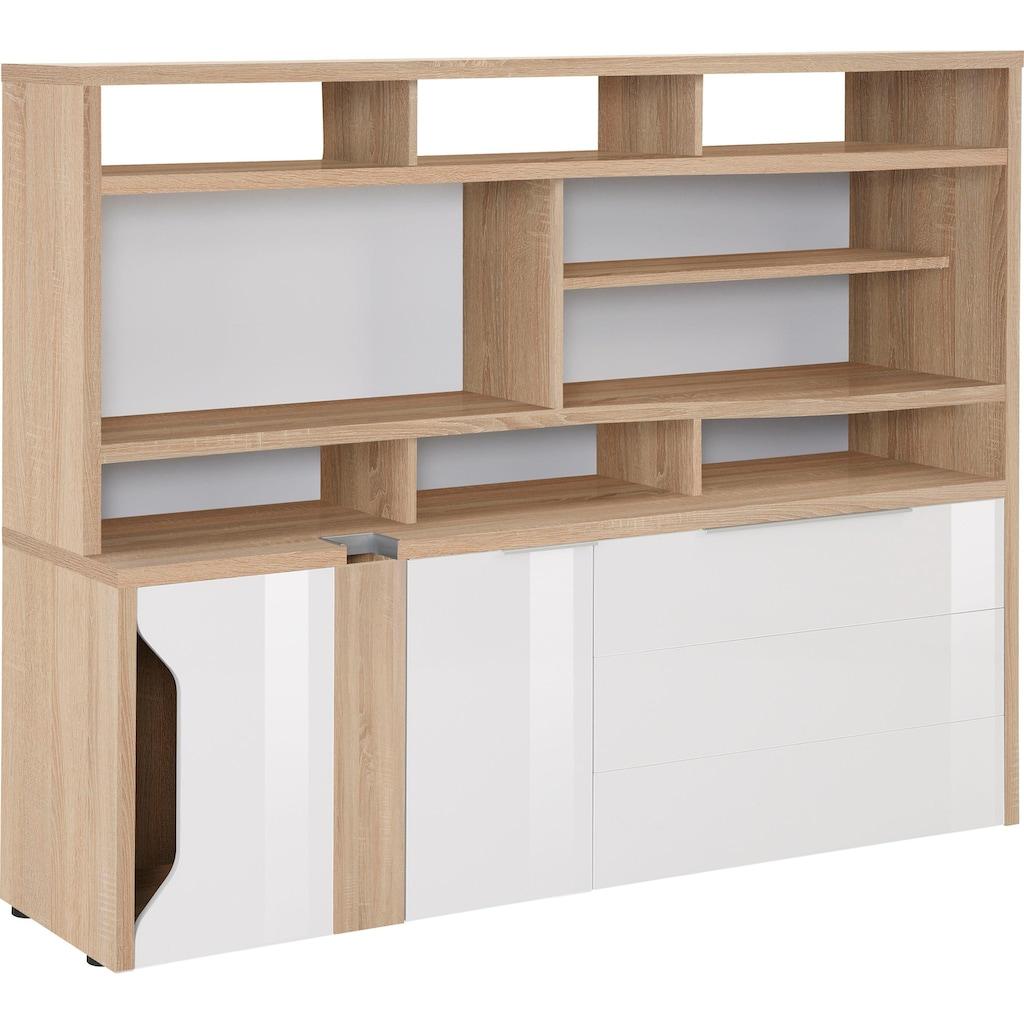 Maja Möbel Computerschrank »eDJUST MINIOFFICE 5509«, Nur in Kombination mit den eDJUST Schreibtischen 5504 oder 5507