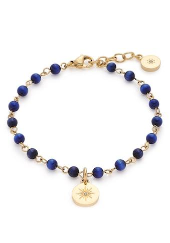LEONARDO Edelstahlarmband »Rosella, 017934«, mit Cat´s Eye Perlen und Kristallsteinen kaufen