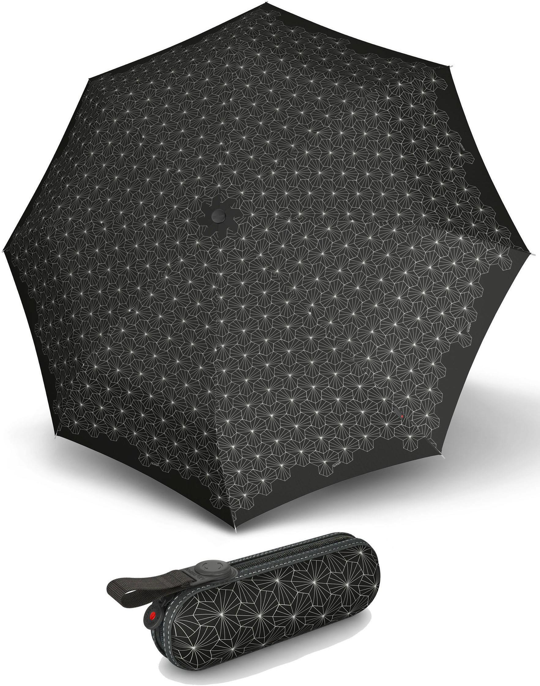 Knirps® Regenschirm - Taschenschirm, »X1 lotus black« | Accessoires > Regenschirme > Taschenschirme | Schwarz | KNIRPS