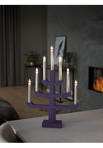 KONSTSMIDE Holzleuchter, blau/purpurfarben lackiert kaufen