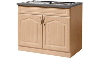 wiho Küchen Spülenschrank »Linz«, 100 cm breit, inkl. Einbauspüle kaufen