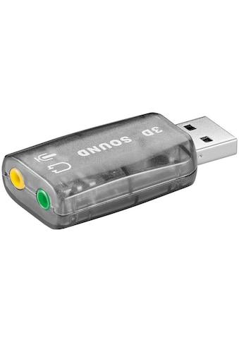 Goobay USB 2.0 Soundkarte / Audio/Headset Adapter »USB A Stecker > 2x 3,5mm Mono Buchse« kaufen