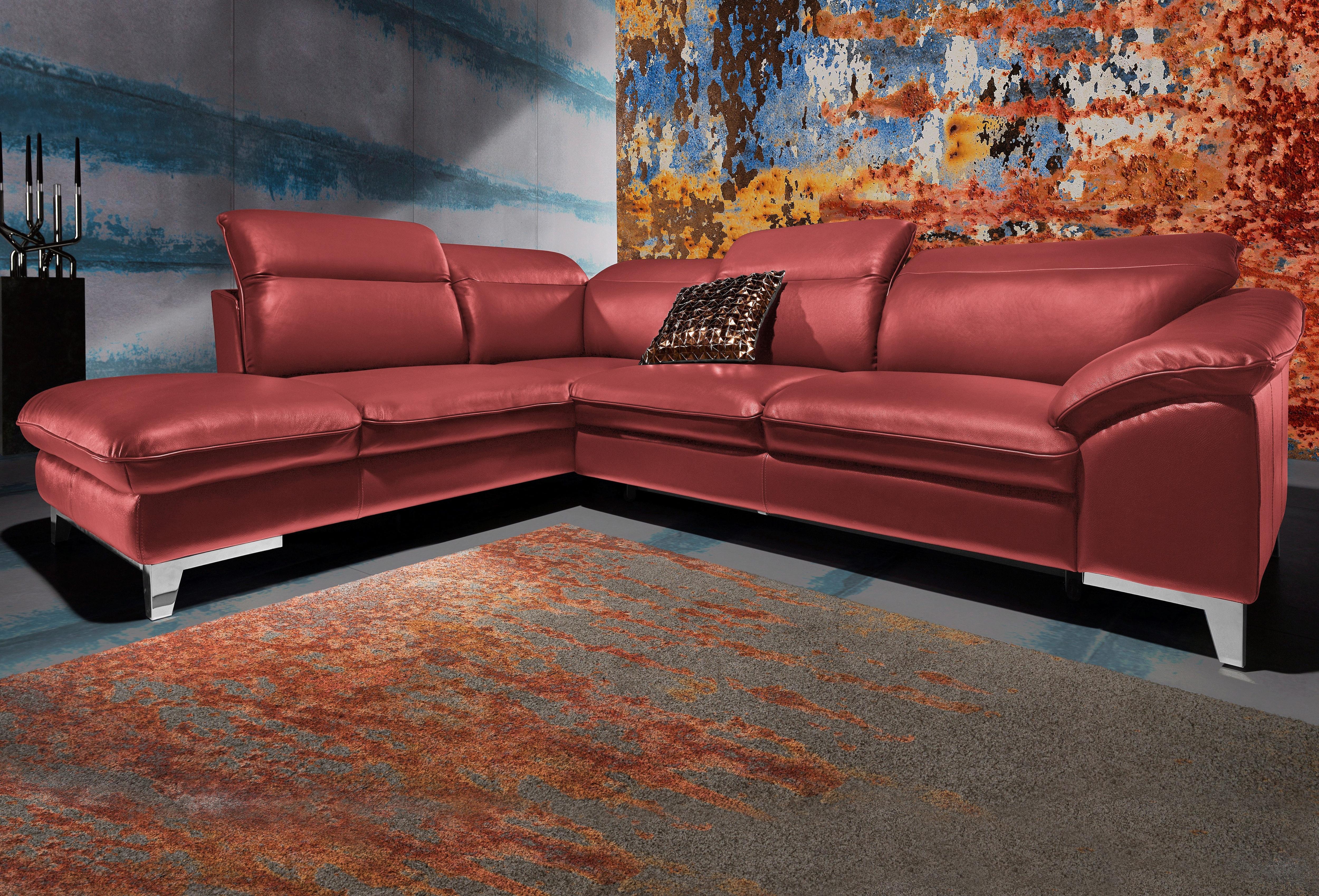 Cotta Polsterecke, wahlweise mit Bettfunktion | Wohnzimmer | Rot | COTTA