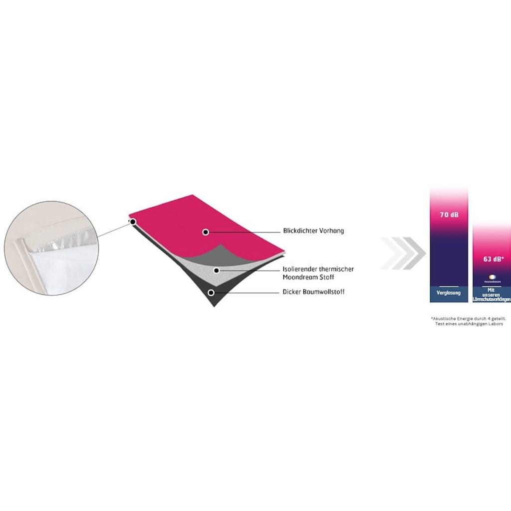 Moondream Vorhang »Accoustic«, HxB: 260x145, mit Energiespar- und geräuschdämpfender Effekt, Dim Out