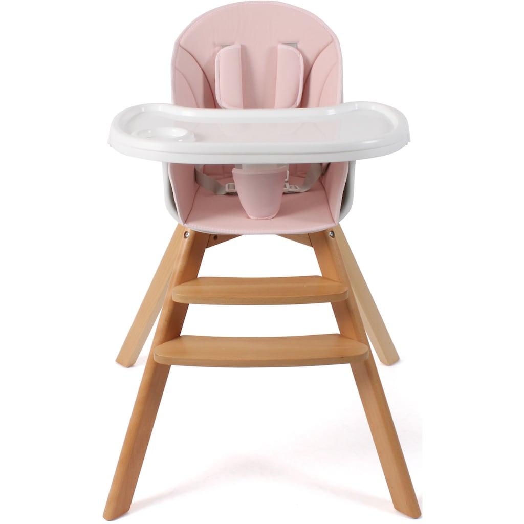 CHIC4BABY Hochstuhl »Fiete, rosa«, mit Beinen aus Buchenholz