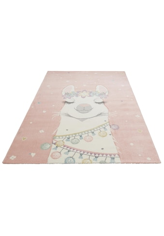 Lüttenhütt Kinderteppich »Lama«, rechteckig, 13 mm Höhe, mit Lama Motiv kaufen