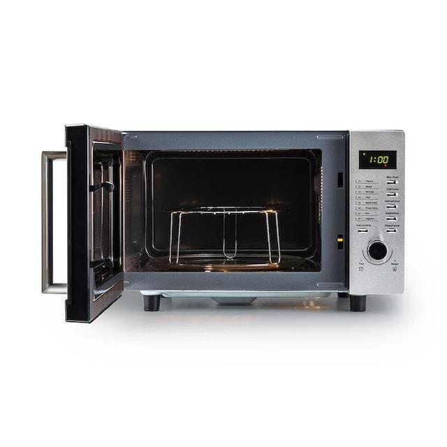 Klarstein Mikrowelle 23 liter Einbaugerät Grillfunktion Edelstahl Groß »Steelwave«