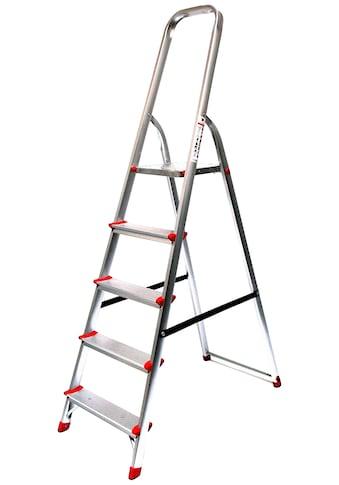 Stehleiter 3,07 m, 5 - stufig kaufen