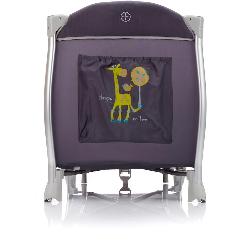 Fillikid Baby-Reisebett »Supreme, Happy roller Giraffe grau«, inkl. Transporttasche