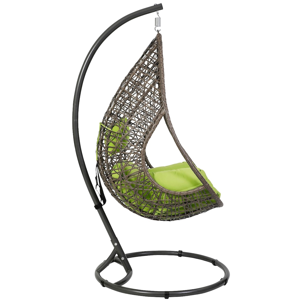 Greemotion Hängestuhl »Kuba«, Stahl/Polyethylen, inkl. Sitz- und Rückenkissen