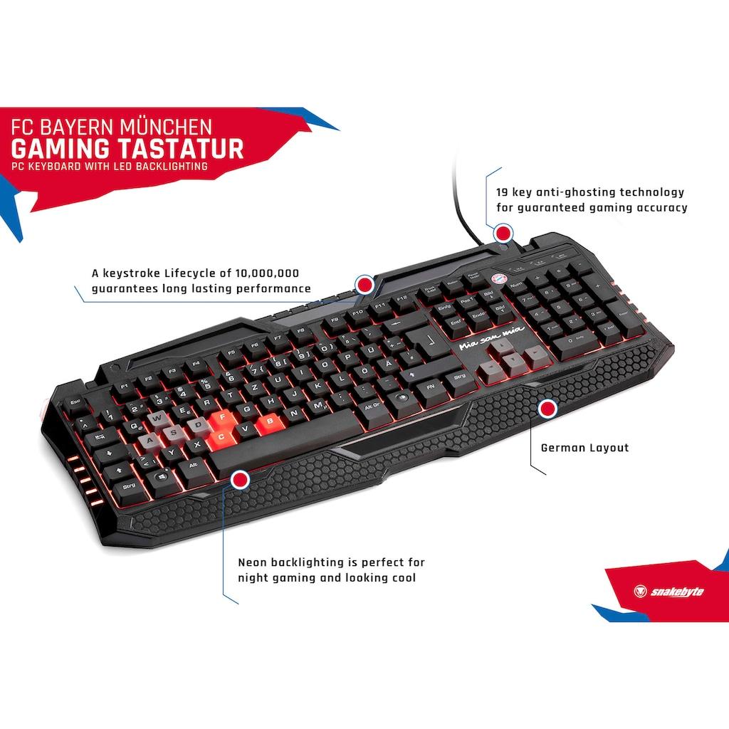 Snakebyte Gaming-Tastatur »FC Bayern München PC-Gaming Tastatur«