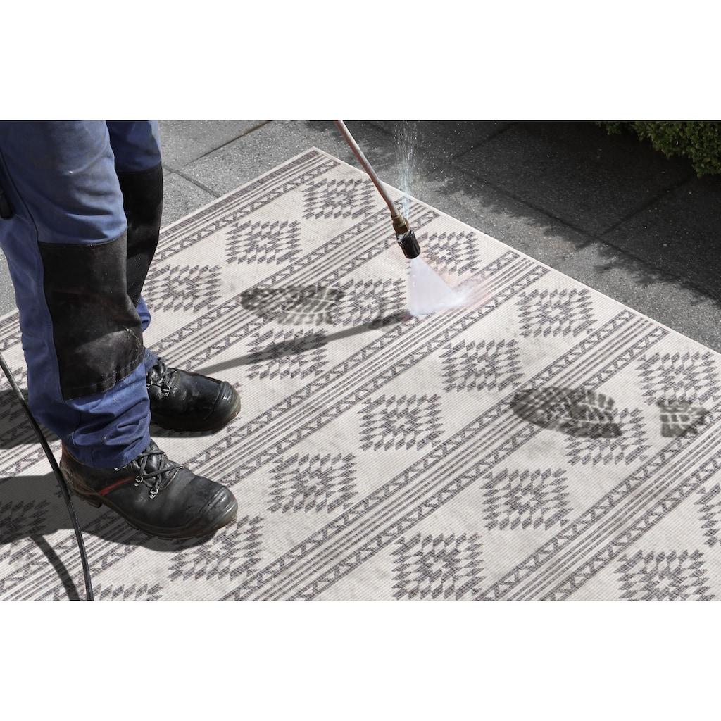 freundin Home Collection Läufer »Maple«, rechteckig, 5 mm Höhe, In- und Outdoor geeignet, Wendeteppich
