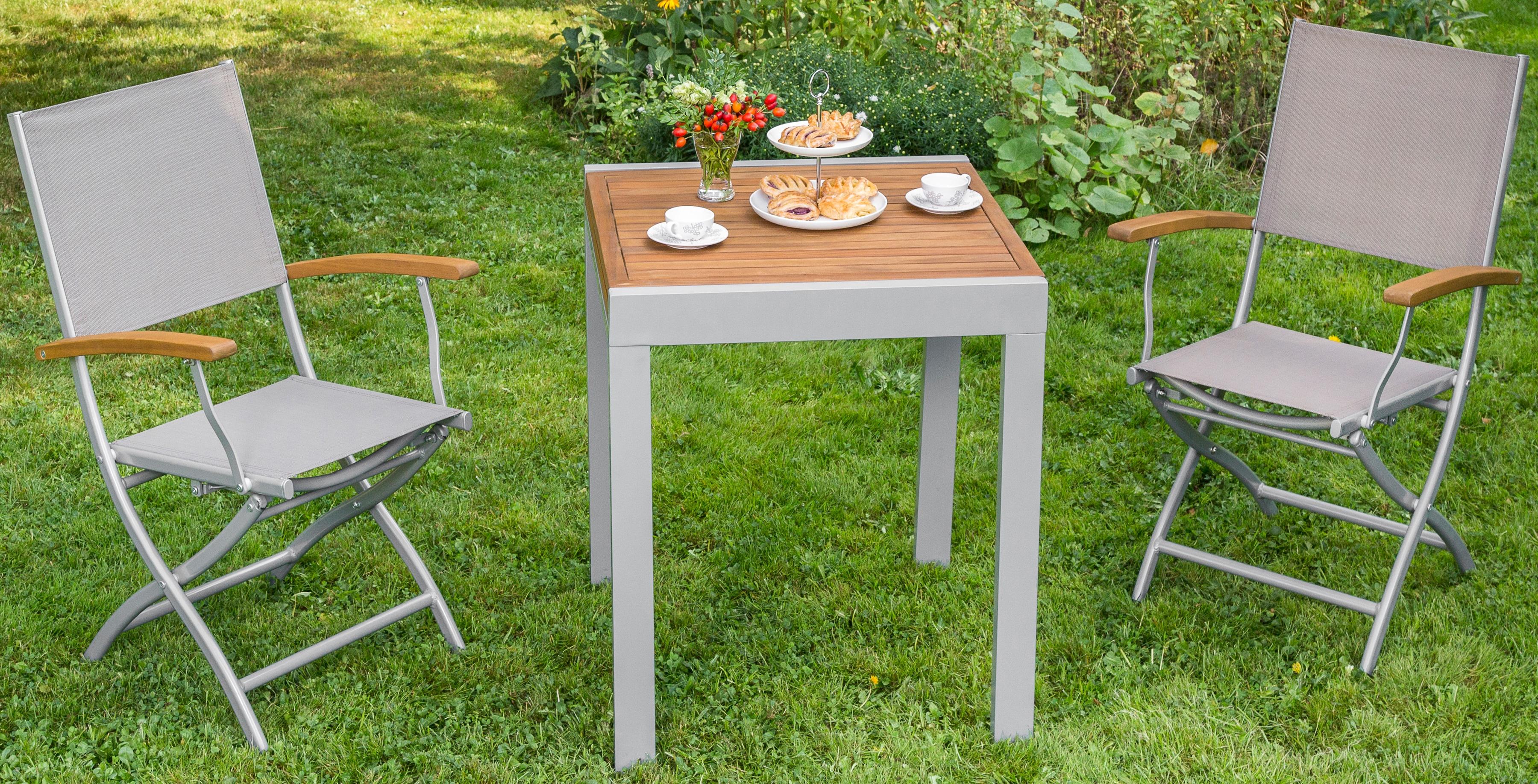 MERXX Gartentisch »Balkonauszieh-tisch«, Akazienholz/Alu, ausziehbar, 130x65 cm, braun   Garten > Balkon > Balkontische   MERXX