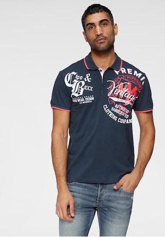Cipo & Baxx Poloshirt, mit auffälligem Druck kaufen