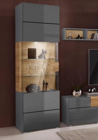 vitrine serie toledo h he 204cm auf rechnung kaufen. Black Bedroom Furniture Sets. Home Design Ideas