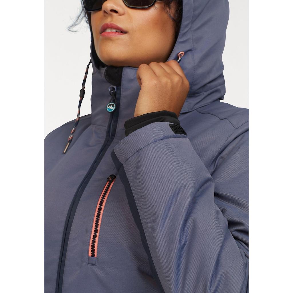 Polarino Skijacke, Mit Schneefang