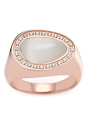 LEONARDO Fingerring »Amisa, 019641, 019642, 019643, 019644«, mit Cat´s Eye, Zirkonia (synth.) kaufen
