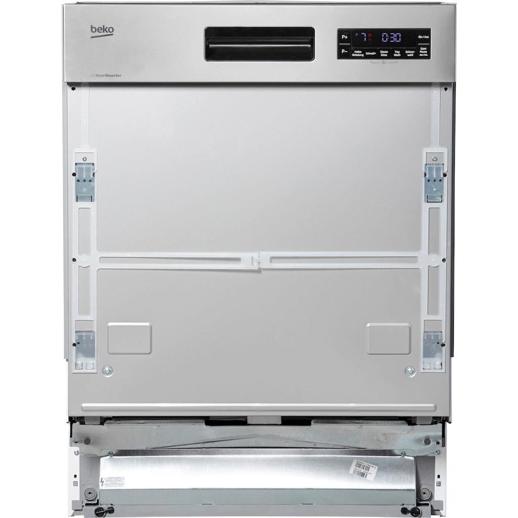 BEKO teilintegrierbarer Geschirrspüler »DSN6634FX2«, DSN6634FX2, 14 Maßgedecke, mit TrayWash-Funktion