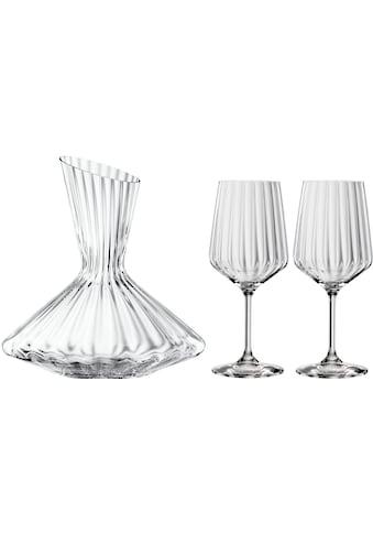 SPIEGELAU Dekanter »Lifestyle«, (Set, 3 tlg.), Kristallglas, (1x Dekanter, 2x... kaufen