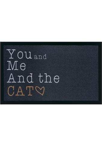 my home Fußmatte »Cat«, rechteckig, 5 mm Höhe, Schmutzfangmatte, mit Spruch, In- und... kaufen