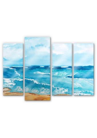 Wall-Art Mehrteilige Bilder »Meeresrausch Meer (4-teilig)«, (Set, 4 St.) kaufen