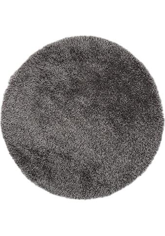 Hochflor - Teppich, »Churchill«, LUXOR living, rund, Höhe 58 mm, maschinell getuftet kaufen
