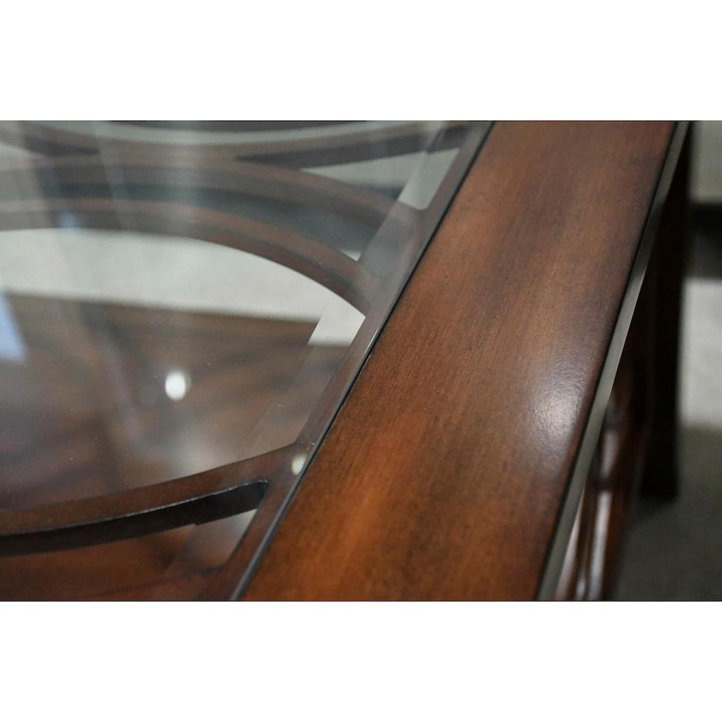 Leonique Couchtisch »Brayden«, in edler Optik mit Ablageboden