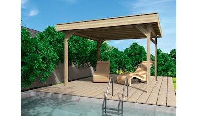 WOLFF FINNHAUS Holzpavillon »Elba«, BxT: 350x352 cm, Grundbauset kaufen