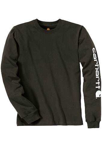 CARHARTT T - Shirt »SLEEVE LOGO T - SHIRT L/S«, PEAT, mit Ärmel  -  Logo kaufen