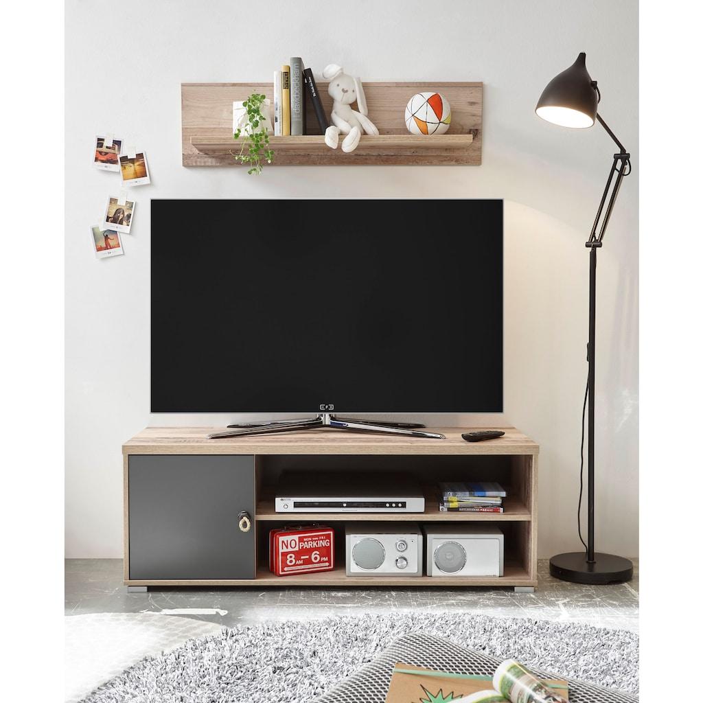 Begabino TV-Bank »Merlin«, mit Seilgriffen, im modernen Dekor Old Style hell
