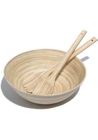 Franz Müller Flechtwaren Salatschüssel »Bamboo«, inkl. Salatbesteck kaufen