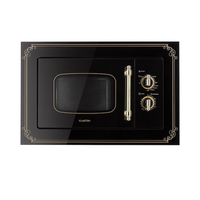 Klarstein Einbau-Mikrowelle, 20 l, 800 W, Grill: 1000 W, schwarz »Victoria 20«