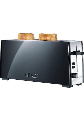 Graef Toaster »TO 92, schwarz - matt«, für 2 Scheiben, 880 Watt kaufen