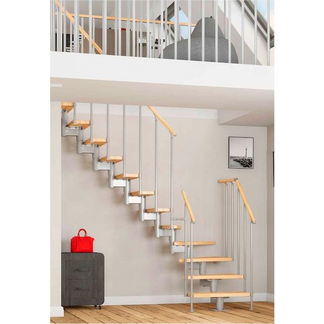 DOLLE Mittelholmtreppe »Cork«, Buche, 11 Stufen, versch. Ausführungen