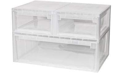 KREHER Aufbewahrungsbox »2x 12 Liter, 1x 36 Liter, mit Schubladen« 3er Set kaufen