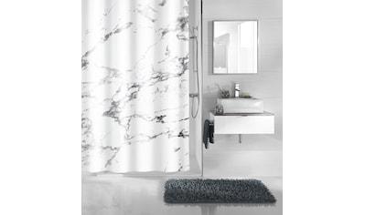 Kleine Wolke Duschvorhang »Marble«, Breite 180 cm, (1 tlg.), Höhe 200 cm, mit Beschwerungsband kaufen