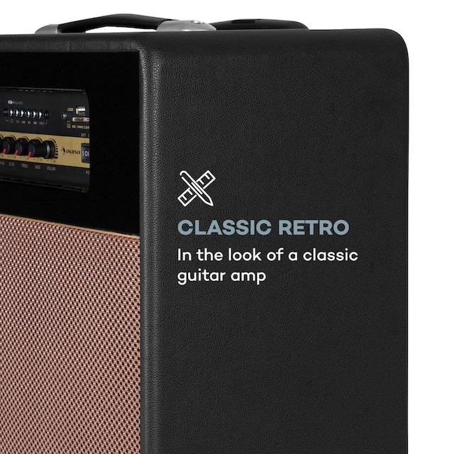 "Auna PA-Anlage 10"" Woofer 100Wmax. Mikro USB SD BT AUX UKW mobil »Streetstar Retro 30«"
