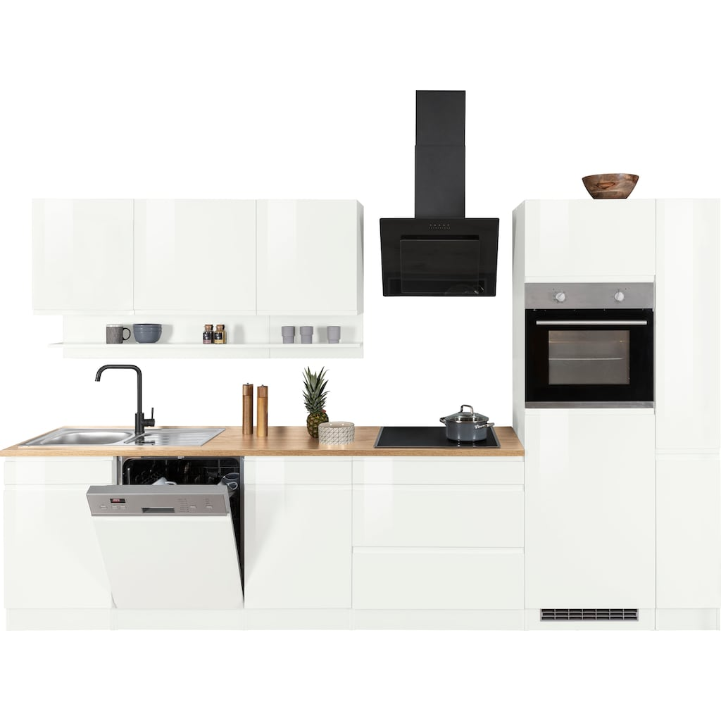 HELD MÖBEL Küchenzeile »Virginia«, mit E-Geräten, Breite 330 cm