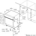 BOSCH teilintegrierbarer Geschirrspüler »SMI4HDS52E«, SMI4HDS52E, 13 Maßgedecke