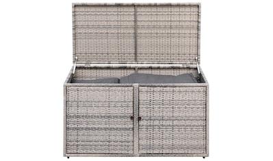 MERXX Kissenbox »Komfort«, 120x60x65 cm, Polyrattan, grau kaufen