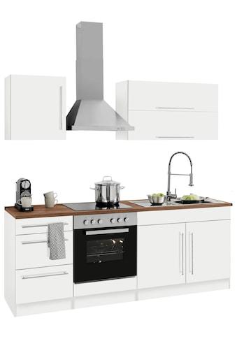 HELD MÖBEL Küchenzeile »Samos«, mit E - Geräten, Breite 210 cm mit Stangengriffen aus Metall kaufen