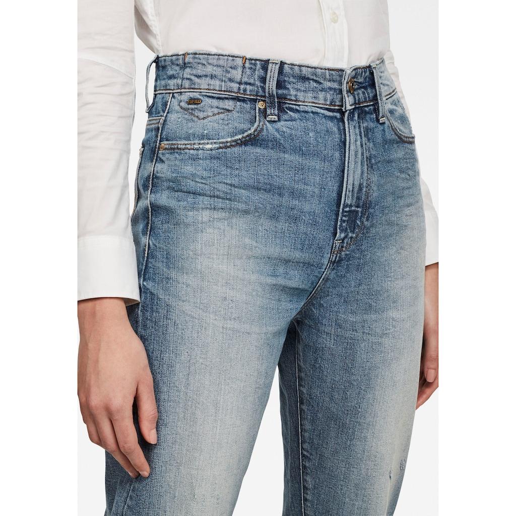 G-Star RAW Ankle-Jeans »Janeh Ultra High Mom Ankle Jeans«, abgerundete Passe hinten u. schräge Gürtelschlaufen für femininen Look