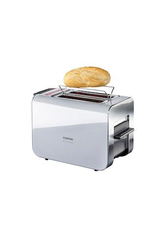 SIEMENS Toaster »Sensor for Senses TT86105«, 2 kurze Schlitze, für 2 Scheiben, 860 W, mit Quarzglasheizung, grau kaufen